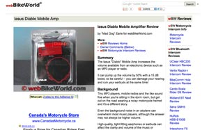 webBikeWorld.com Review on the Diablo Amp