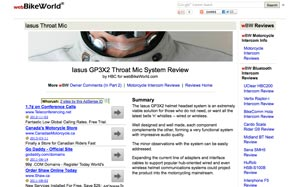 webBikeWorld.com Review on the GP3X2 Throat Mic System
